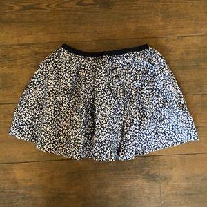 Jacadi Navy Floral Skirt- Size 4/5